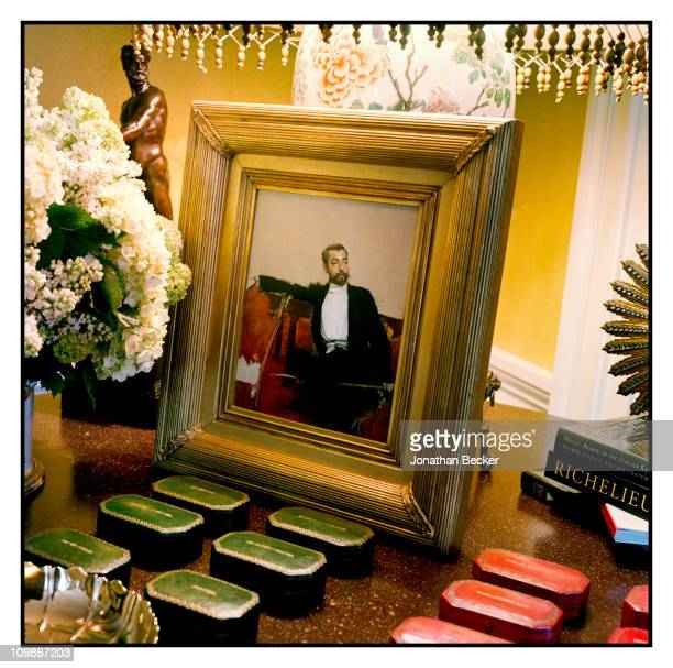 Fashion designer Oscar de la Renta's home is photographed for Vanity Fair Spain on May 7 2009 in New York City Published image