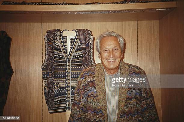 Fashion designer Ottavio Missoni , aka Tai Missoni, in his boutique on Madison Avenue, New York, USA, 1992.