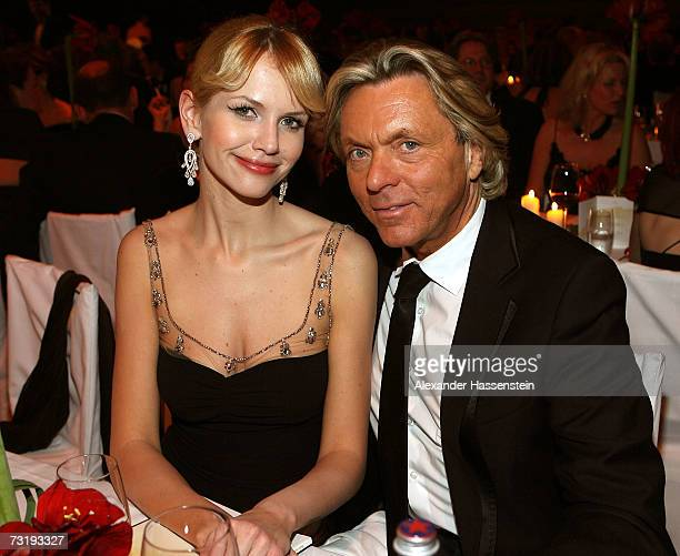 Fashion designer Otto Kern attends with Naomi Salz the 2007 Sports Gala Ball des Sports at the RheinMain Hall on February 3 2007 in Wiesbaden Germany