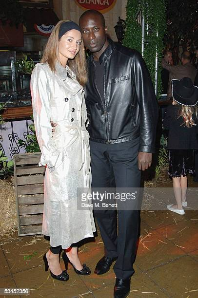 Fashion Designer Ozwald Boeteng and wife Gyunel attend the after party for the UK Premiere of 'The Dukes Of Hazzard' at the Texas Embassy Cantina on...