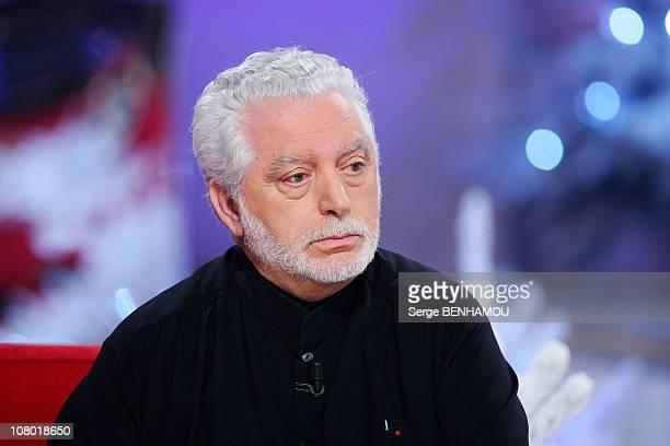 Fashion designer Paco Rabanne attends the Vivement Dimanche TV show on December 15 2010 in Paris France