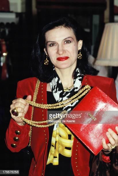 Fashion designer Paloma Picasso, in 1989 ca. In London, England.