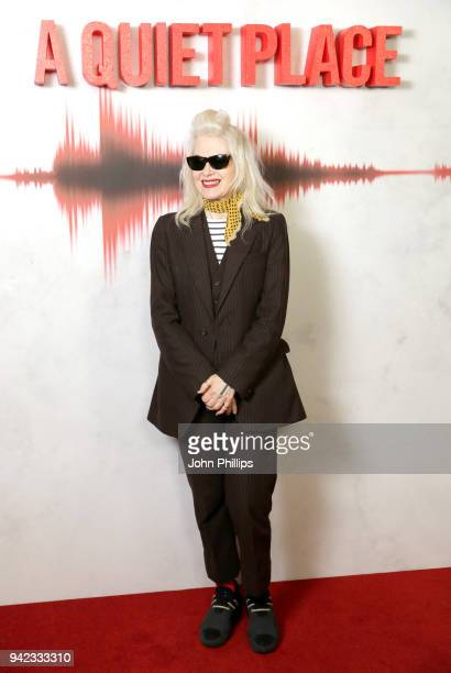Fashion designer Pam Hogg attends A Quiet Place screening at the Curzon Soho on April 5 2018 in London England