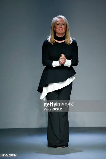 Fashion designer Pamella Roland walks at Pamella Roland Ready to Wear Fall/Winter 20182019 fashion show on February 2018 New York Fashion Week at...