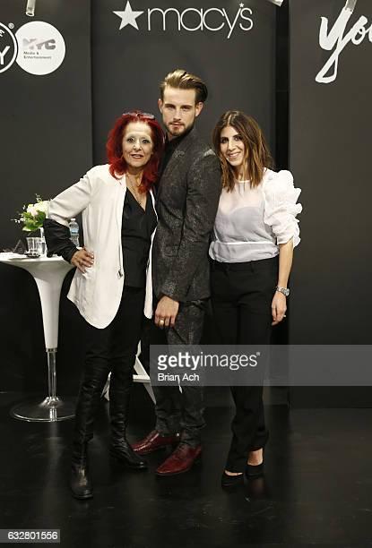Fashion designer Patricia Field Actor Nico Tortorella and Costume designer Jacqueline Demeterio attend as Macy's celebrates the 50th Anniversary of...