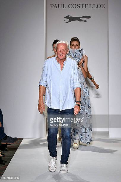 Fashion designer Paul Costelloe walks the runway at the Paul Costelloe show during London Fashion Week Spring/Summer collections 2017 on September 16...
