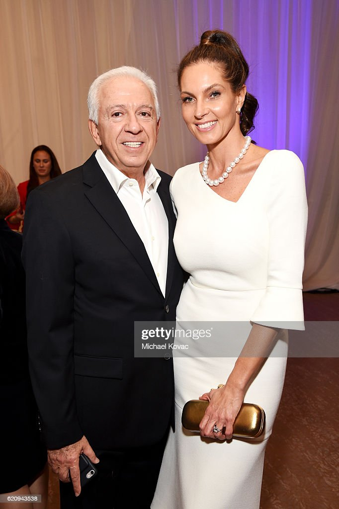 Fashion designer Paul Marciano (L) and Mareva Georges Marciano attend Friends Of The Israel Defense Forces Western Region Gala at The Beverly Hilton Hotel on November 3, 2016 in Beverly Hills, California.