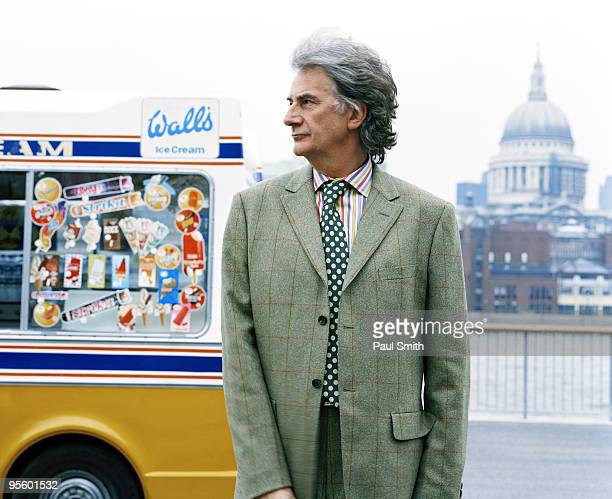 Fashion designer Paul Smith poses for a portrait shoot in London on January 23 2003