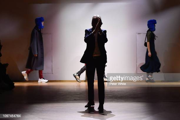 Fashion designer Paul Smith walks the runway during the finale of Paul Smith Menswear Fall/Winter 20192020 show as part of Paris Fashion Week on...