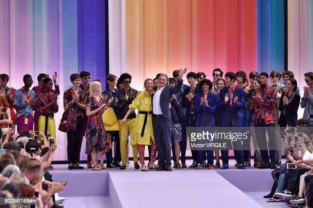 Fashion designer Paul Smith walks the runway during the Paul Smith Menswear Spring/Summer 2018 show as part of Paris Fashion Week on June 25 2017 in...