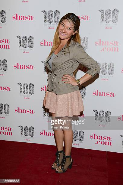Fashion designer Paulina Garcia attends Shasa 100th Store Grand Opening And Fashion Event At The Glendale Galleria at Glendale Galleria on November 2...