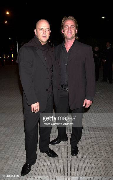 Fashion designer Peter Morrissey and his partner arrive for the opening night of the Cirque du Soleil production of 'Alegria' under the Grand...