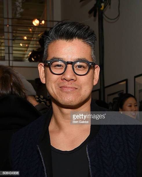Fashion designer Peter Som attends the Craft Atlantic presentation during New York Fashion Week Men's Fall/Winter 2016 at Cooper Classic Cars on...