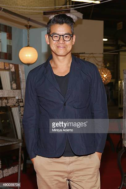 Fashion designer Peter Som attends the NYC Big Flea opening night cocktail party at Pier 94 on September 25 2015 in New York City