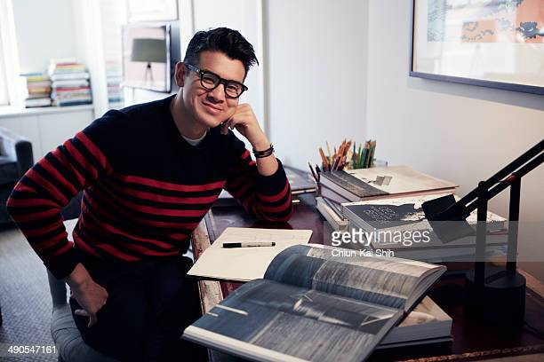 Fashion designer Peter Som is photographed for Jessica Magazine on February 17 2014 in New York City PUBLISHED IMAGE