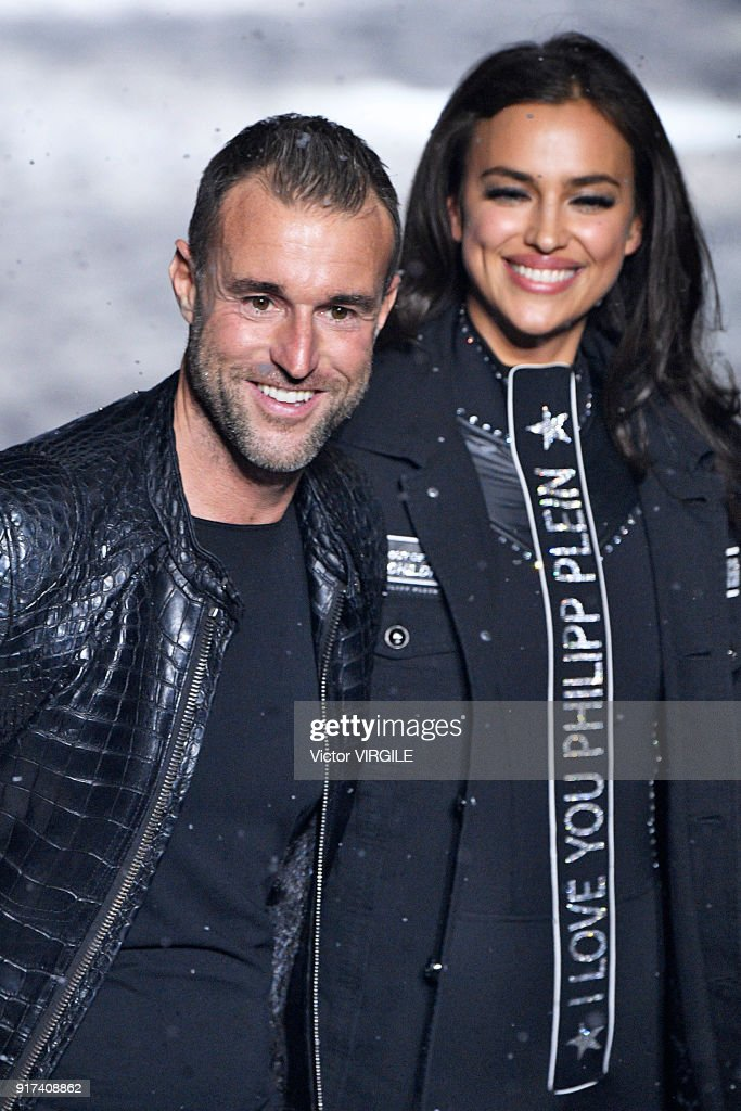 Fashion designer Philipp Plein and Irina Shaykhlislamova walk the runway at the Philipp Plein Ready to Wear Fall/Winter 2018-2019 Fashion Show during New York Fashion Week on February 10, 2018 in New York City.