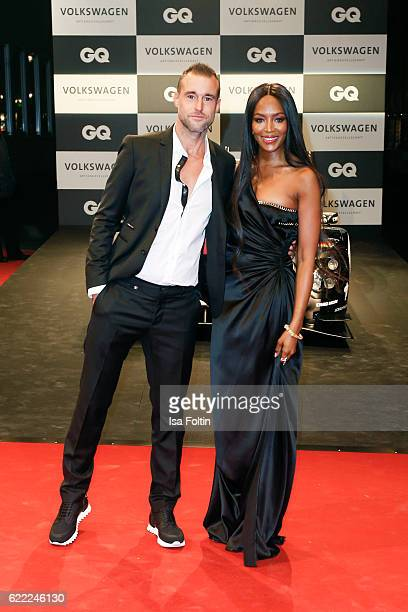 Fashion designer Philipp Plein and top model Naomi Campbell attend the GQ Men of the year Award 2016 at Komische Oper on November 10 2016 in Berlin...