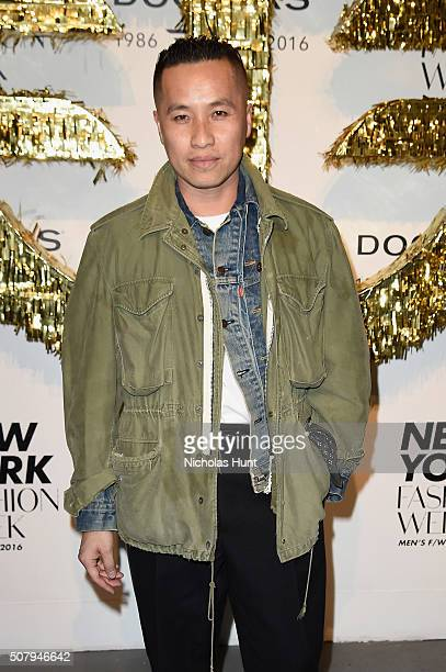 Fashion designer Phillip Lim attends the Dockers x CFDA NYFWM Opening Party during New York Fashion Week Men's Fall/Winter 2016 at ArtBeam on...
