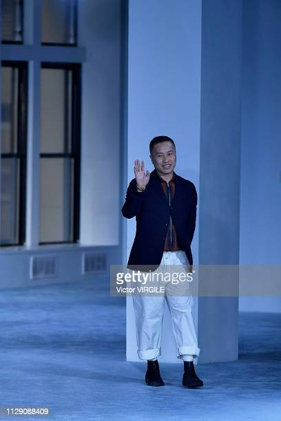 Fashion designer Phillip Lim walks the runway at the 3.1 Phillip Lim Ready to Wear Fall/Winter 2019-2020 fashion show during New York Fashion Week on...