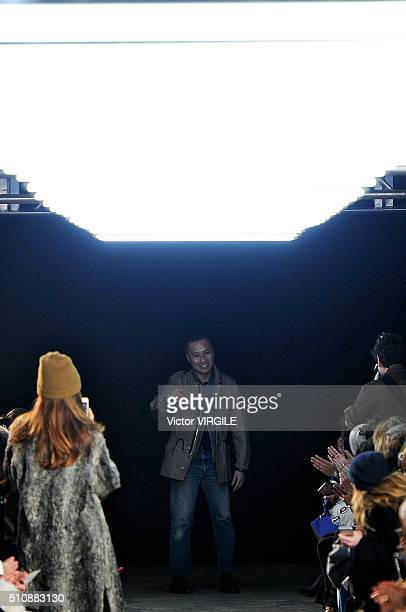 Fashion designer Phillip Lim walks the runway at the 31 Phillip Lim Fall/Winter 2016 fashion show during New York Fashion Week on February 15 2016 in...