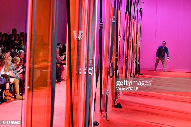 Fashion designer Phillip Lim walks the runway at the 31 Phillip Lim Ready to Wear fashion show during New York Fashion Week Fall Winter 20172018 on...