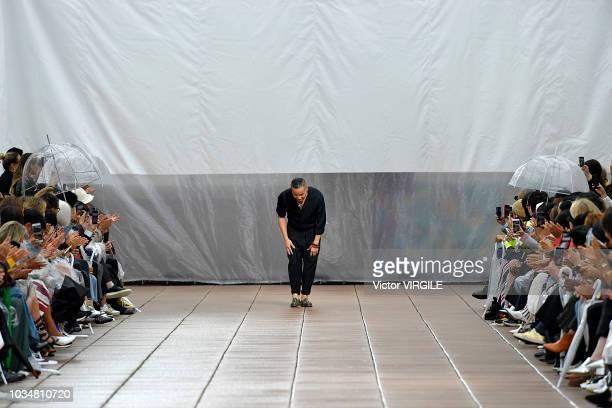 Fashion designer Phillip Lim walks the runway for 3.1 Phillip Lim Spring/Summer 2019 fashion show during New York Fashion Week on September 10, 2018...