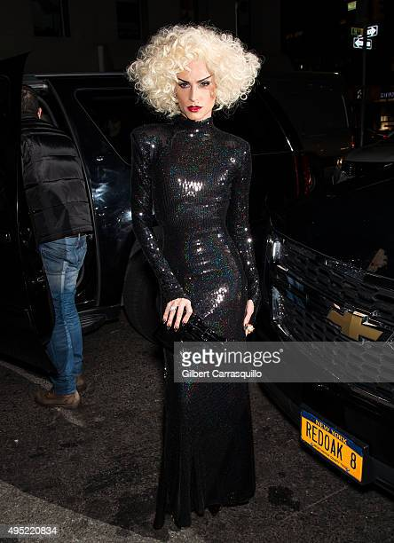 Fashion designer Phillipe Blond arrives at Heidi Klum Halloween Party at LAVO on October 31 2015 in New York City