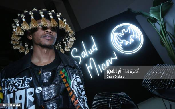 Fashion designer Phree Hester of Los Angeles poses at the Bacardi No Commission Marquee Performance hosted by Swizz Beatz and The Dean Collection at...