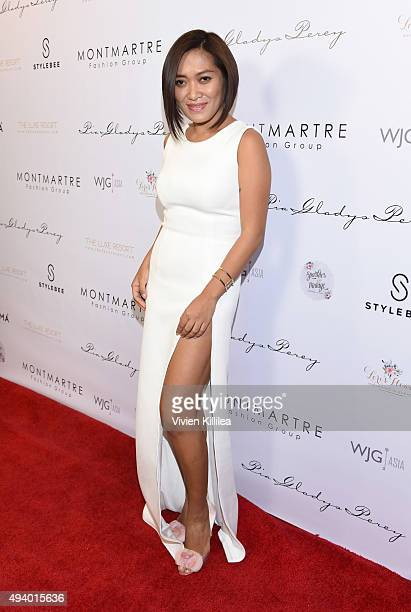 Fashion designer Pia Gladys Perey attends the Pia Gladys Perey Spring/Summer 2016 Fashion Show at Sofitel Hotel on October 23 2015 in Los Angeles...