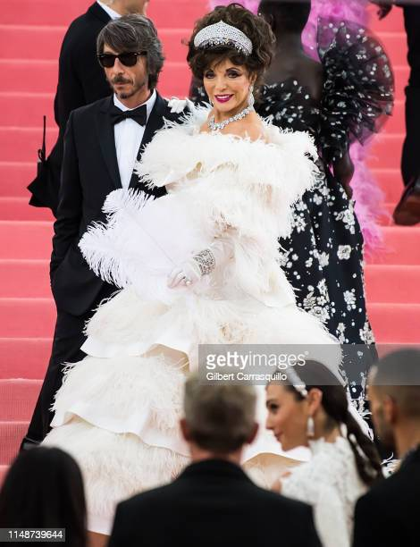 Fashion designer Pierpaolo Piccioli and actress Joan Collins are seen arriving to the 2019 Met Gala Celebrating Camp: Notes on Fashion at The...
