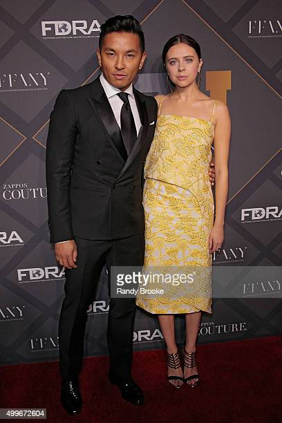 Fashion Designer Prabal Gurung and The Diary of a Teenage Girl's Bel Powley attend the 29th FN Achievement Awards at IAC Headquarters on December 2...