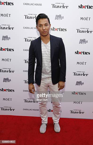 Fashion Designer Prabal Gurung attends Conde Nast Traveler Celebrates 'Shorties' With Moet Chandon Imperial Minis at Cadillac House on June 8 2016 in...
