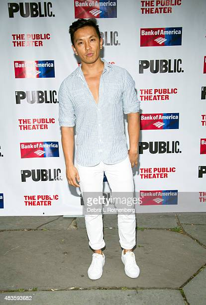 Fashion designer Prabal Gurung attends the Public Theater's opening night of Cymbeline at the Delacorte Theater on August 10 2015 in New York City