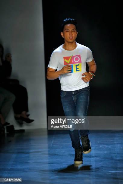 Fashion designer Prabal Gurung walks at the Prabal Gurung Spring/Summer 2019 fashion show during New York Fashion Week on September 9 2018 in New...