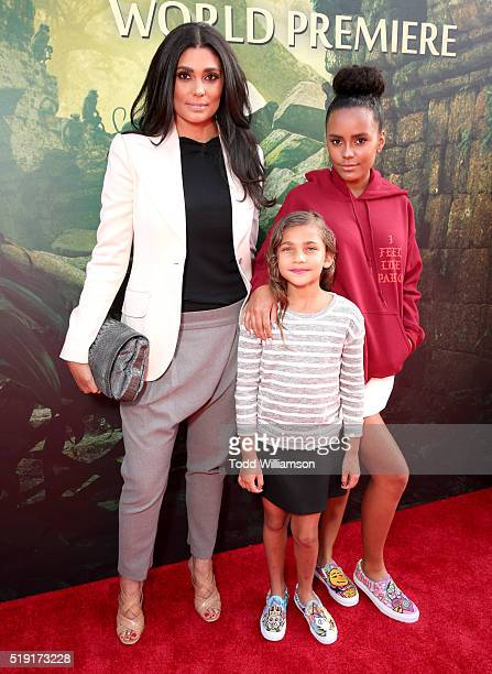 Fashion designer Rachel Roy and daughters Tallulah Ruth Dash and Ava Dash attend the premiere of Disney's The Jungle Book at the El Capitan Theatre...