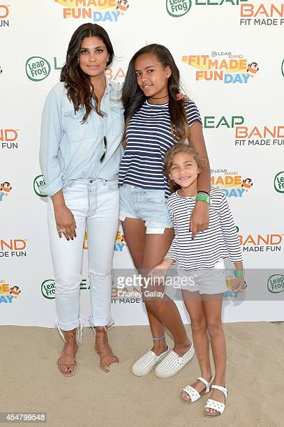 Fashion designer Rachel Roy Ava Dash and Tallulah Ruth Dash attend as Mia Hamm and LeapFrog attempt to become GUINNESS WORLD RECORDS record holders...