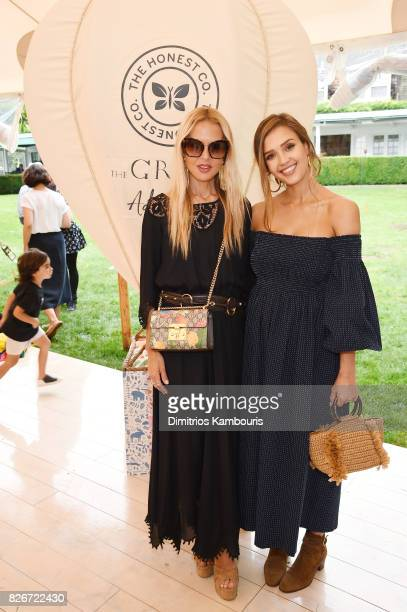 Fashion designer Rachel Zoe and Founder of The Honest Company and Honest Beauty Jessica Alba attend as the Honest Company and The GREAT celebrate The...