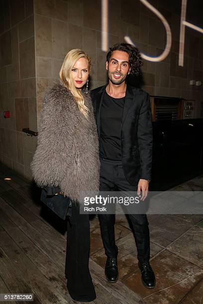 Fashion Designer Rachel Zoe and Joey Maalouf pose for a photo at the FabFitFun and Joey Maalouf's ISH Launch Party at Above SIXTY Beverly Hills on...