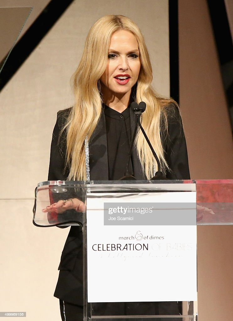 Fashion designer Rachel Zoe speaks onstage at the March Of Dimes Celebration Of Babies Luncheon honoring Jessica Alba at the Beverly Wilshire Four Seasons Hotel on December 4, 2015 in Beverly Hills, California.