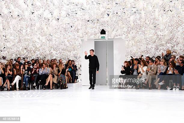 Fashion designer Raf Simons attends the Christian Dior show as part of Paris Fashion Week - Haute Couture Fall/Winter 2014-2015. Held at Musee Rodin...
