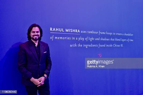Fashion designer Rahul Mishra at the third edition of Chivas 18 Alchemy 2019 as the architect of memory on March 16 2019 in New Delhi India