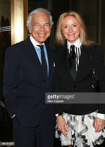 Fashion designer Ralph Lauren and wife Ricky Lauren attend the Gordon Parks Foundation's Celebrating Fashion Awards Gala at Gotham Hall June 2 2009...