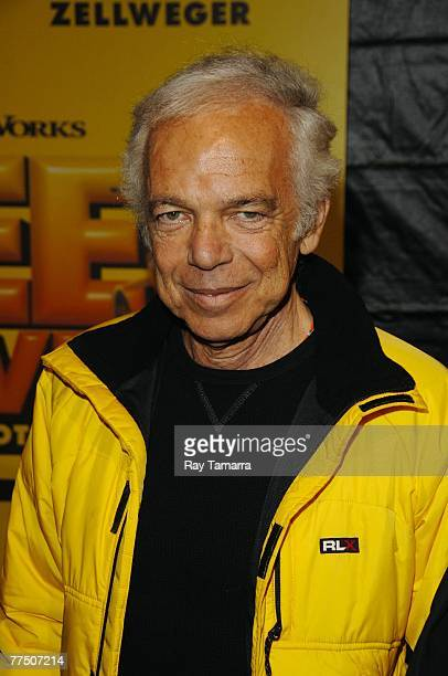 Fashion designer Ralph Lauren attends the 'Bee Movie' premiere at AMC Lincoln Square 13 on October 25 2007 in New York City