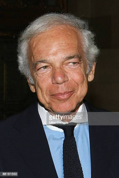 Fashion designer Ralph Lauren attends the Gordon Parks Foundation's Celebrating Fashion Awards Gala at Gotham Hall June 2 2009 in New York City