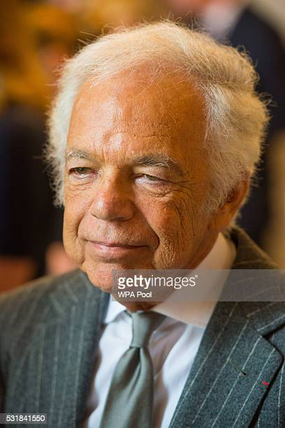 Fashion designer Ralph Lauren looks on as he and Prince William Duke of Cambridge visit the Royal Marsden NHS Foundation Trust in Chelsea as they...
