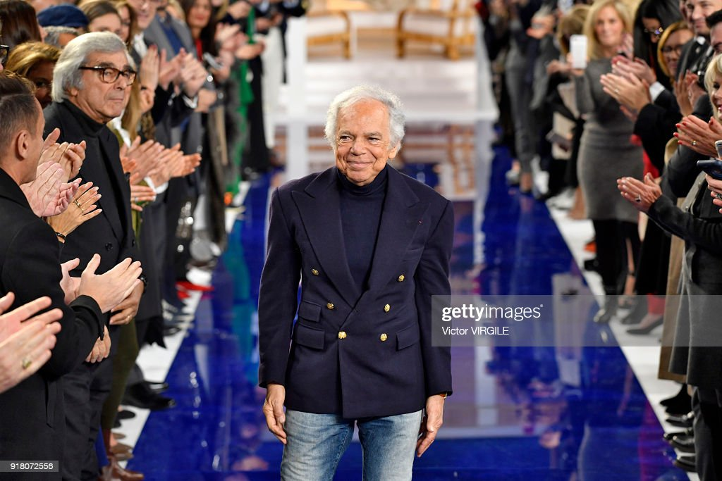 Fashion designer Ralph Lauren walks the runway at Ralph Lauren Ready to Wear Spring/Summer 2018 fashion show during the New York Fashion Week on February 12, 2018 in New York City.