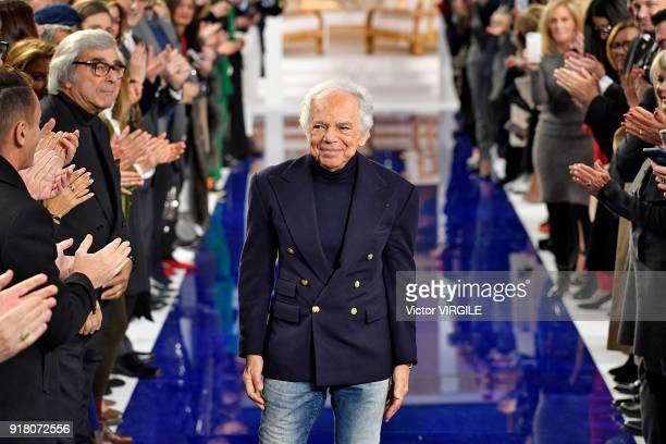 Fashion designer Ralph Lauren walks the runway at Ralph Lauren Ready to Wear Spring/Summer 2018 fashion show during the New York Fashion Week on...