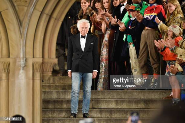 Fashion designer Ralph Lauren walks the runway at Ralph Lauren fashion show during New York Fashion Week on September 7, 2018 in New York City.
