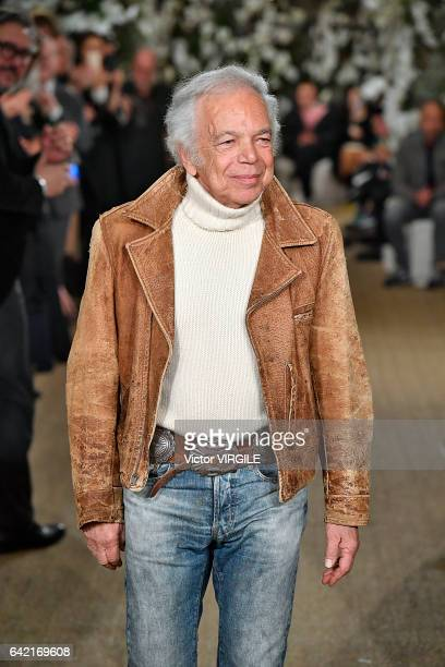 Fashion designer Ralph Lauren walks the runway at the Ralph Lauren Ready to Wear Fall Winter 2017-2018 fashion show during New York Fashion Week on...