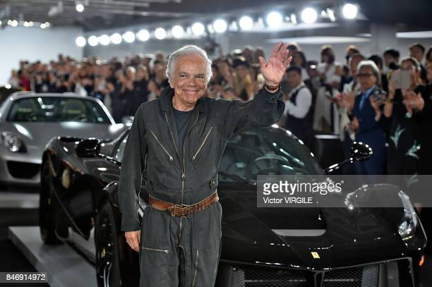 Fashion designer Ralph Lauren walks the runway at the Ralph Lauren Ready to Wear Spring/Summer 2018 fashion show during New York Fashion Week on...